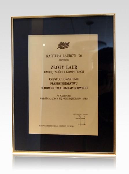 Złoty Laur '96 - Dyplom