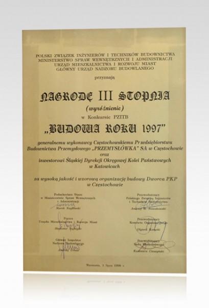 Nagroda III stopnia - Budowa Roku 1997