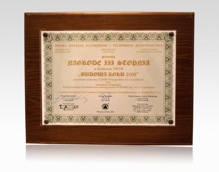 Nagroda III stopnia - Budowa Roku 2006