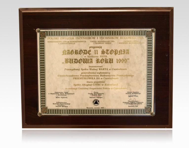 Nagroda II stopnia - Budowa Roku 1999