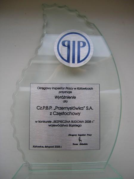 PIP Bezpieczna Budowa Roku 2008