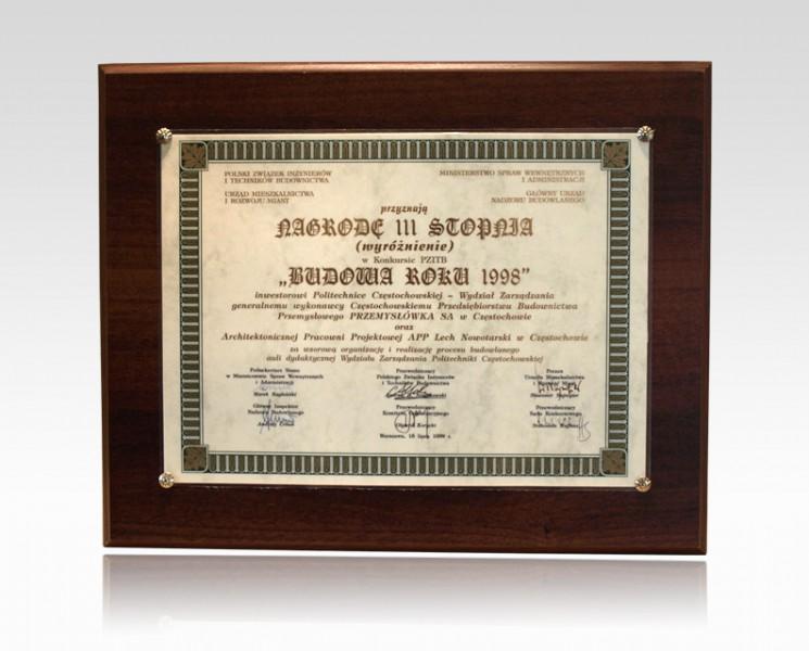 Nagroda III stopnia - Budowa Roku 1998